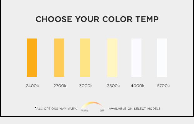 Choose your color temp