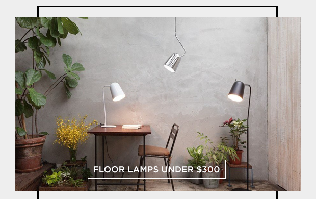 Floor lamps under
