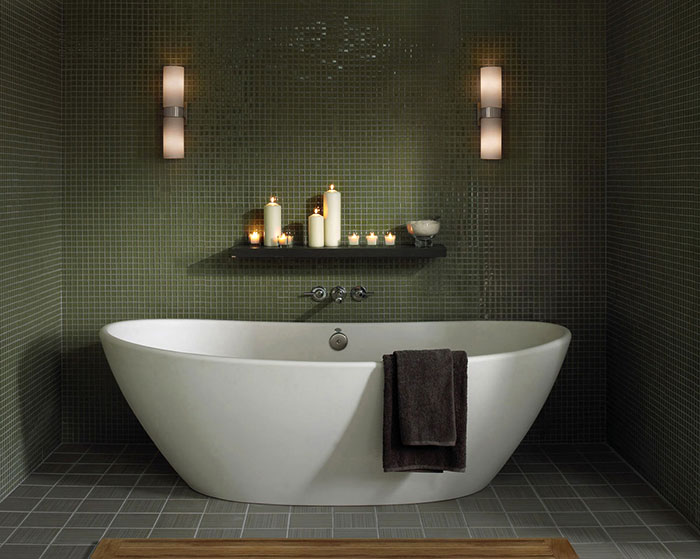 How to light a bathroom lightology hudson bath bar aloadofball Choice Image