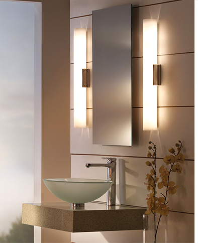 Best bathroom vanity lighting lightology - Bathroom vanity mirror side lights ...