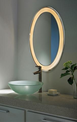 Tigris Oval Recessed Mirror