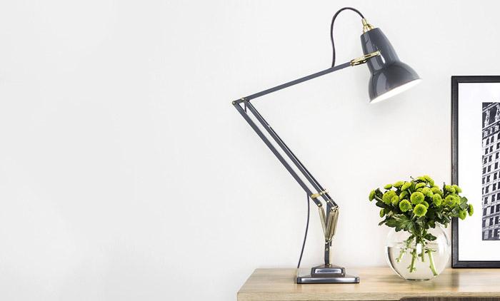 Original 1227 Brass Desk Lamp by Anglepoise