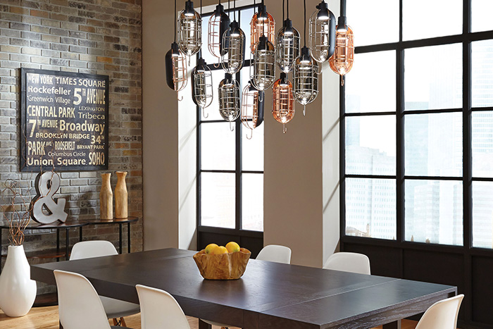 mekanic pendant by lbl lighting - 2 Pendant Lights Over Dining Table