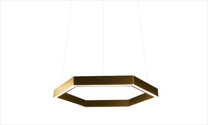 Hex 750 Pendant by Residential Lighting