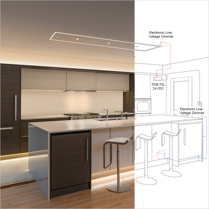 How To Light A Kitchen Lightology - Light fitting over kitchen island