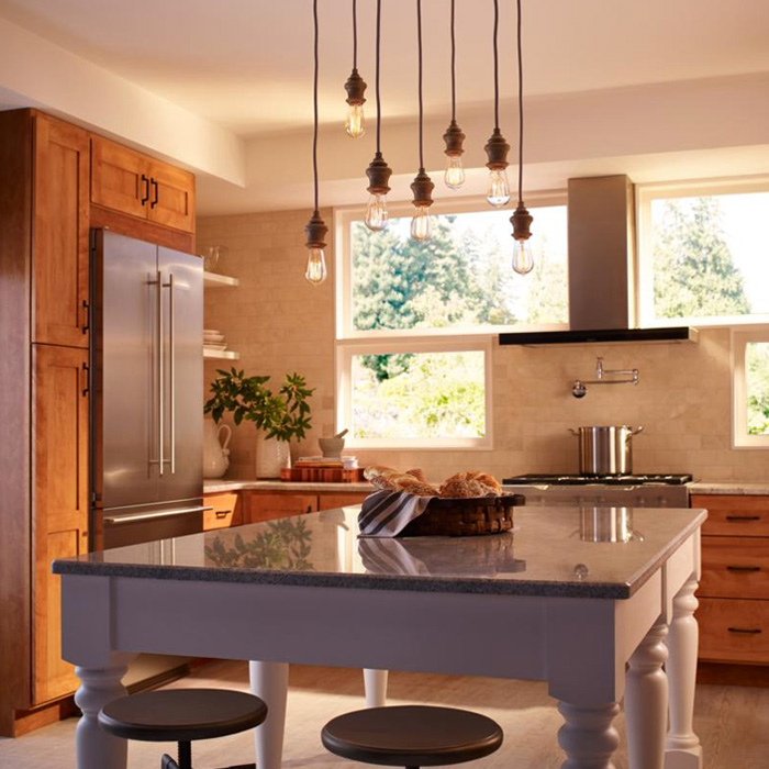 How To Light A Kitchen Lightology - Images of kitchen pendant lighting