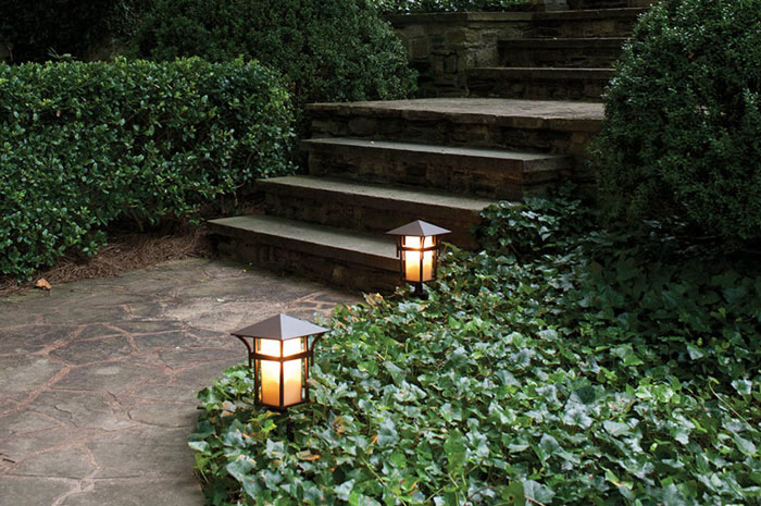 How to light your landscape lightology harbor exterior path light aloadofball Choice Image