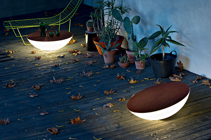 Solar Outdoor Floor Fixture
