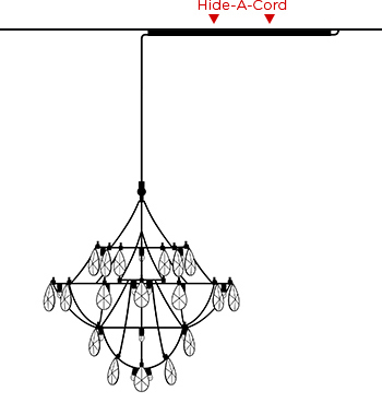 Chandelier with Hide-a-Cord