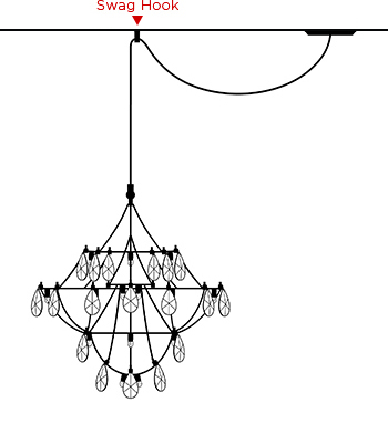Chandelier with Swag Hook
