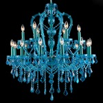 Ocean Drive Two Tier Chandelier -  / Blue