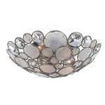 Palla Ceiling Light Fixture - Antique Silver / Crystal