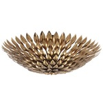 Broche Ceiling Light Fixture - Antique Gold /