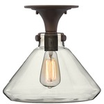 Congress Flat Bottom Semi Flush - Oil Rubbed Bronze / Clear