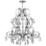Xanadu Chandelier - Polished Stainless Steel / Crystal