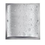 Daphne Wall Light - Brushed Nickel / Bubble Art Glass