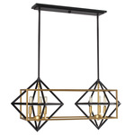Pryor Multi-Light Pendant - Black / Gold