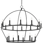 Howell Dual Tier Chandelier - Aged Iron