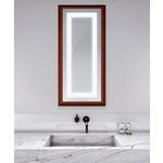 Momentum Lighted Mirror - Cherry Wood / Mirror