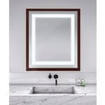 Momentum Lighted Mirror - Walnut /