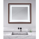 Momentum Lighted Mirror - Walnut / Mirror