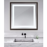 Momentum Square Lighted Mirror - Espresso /