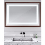 Momentum Lighted Mirror - Walnut / Mirror