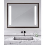 Reflection Lighted Mirror - Espresso / Mirror