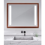 Reflection Lighted Mirror - Cherry Wood / Mirror