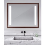 Reflection Lighted Mirror - Walnut / Mirror