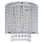 Spiral Wall Sconce - Polished Chrome /