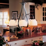 Sweeping Taper 5 Arm Dome Shade Chandelier by Hubbardton Forge