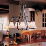 Sweeping Taper 5 Arm Bell Shade Chandelier by Hubbardton Forge