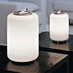 Air Can Table Lamp - Brushed Nickel / White