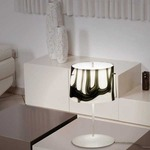 White And Black Table Lamp - White / White / Black
