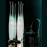 Sezz Floor Lamp - Stainless Steel / Crystal / White