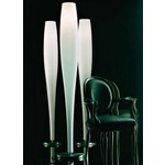Stand Up Floor Lamp - Satin Nickel / White