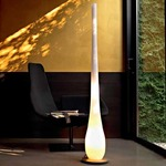 Vaso XLS Floor Lamp - Stainless Steel / White
