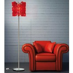 Sixty Floor Lamp - Polished Chrome / Red
