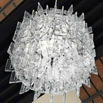 Sixty Round Ceiling Light - Polished Chrome / Crystal