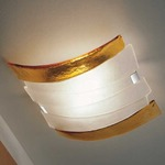 Riflessi Ceiling Light - Polished Chrome / Satin Crystal / Amber