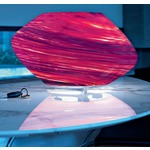 Argo Large Table Lamp - White / Striped Red