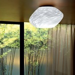Argo Ceiling Light - White / Striped White