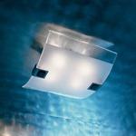 Rio Ceiling Light - Inox / Satin Crystal / Clear