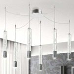Settecento Multi Light Suspension - Polished Chrome / Crystal