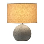 Soprana Solid Table Lamp - Grey / Beige
