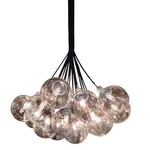 Orb Cluster Pendant - Polished Chrome / Clear