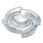 Step 3.5IN Downlight Trim / New Construction Non-IC Housing - Chrome / Genuine Crystal