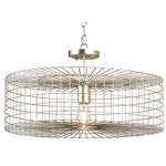 Dusklight Semi Flush Ceiling Light - Silver Leaf /