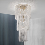 Minigiogali Cascading Ceiling Light - Matte Bronze / Transparent
